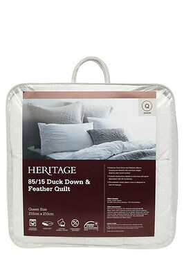 NEW Heritage 85/15 Duck Down & Feather Quilt