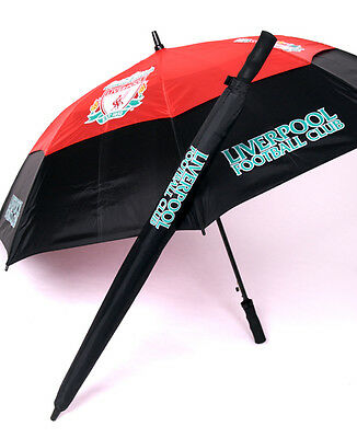 Premier Licensing- Liverpool Gustbuster Double Canopy Storm Golf Umbrella Boxed