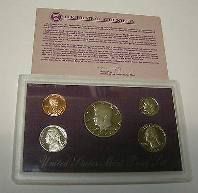 Usa America Us States Mint Proof Set 1990 S Pp Kennedy Box Coa