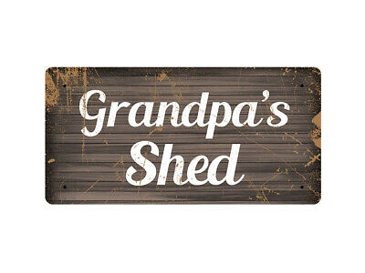 WP_DAD_002 Grandpa's Shed - Metal Wall Plate