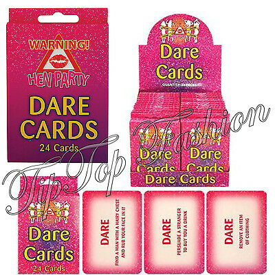 Adults Fancy Hen & Stag Do Night Club Party Truth Or Dare Cards Pack Of 24 Uk