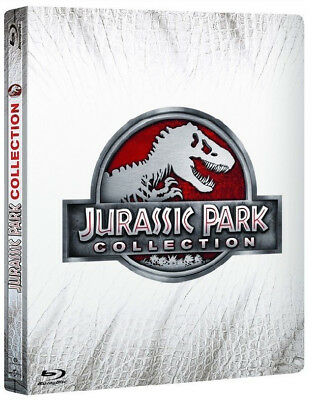 Jurassic Park Collection - Steelbook Edition (4 Blu-Ray) Incluso Jurassic World