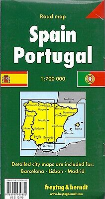 Map of Spain & Portugal, by Freytag & Berndt