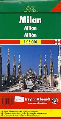 Map of Milan, Italy, by Freytag & Berndt