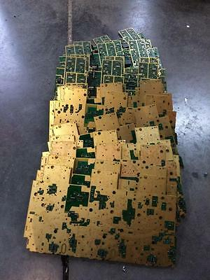 27 Lbs Telecom Board Qith High Yield Gold Plated Scrap Recovery (As Is) 28 Piece