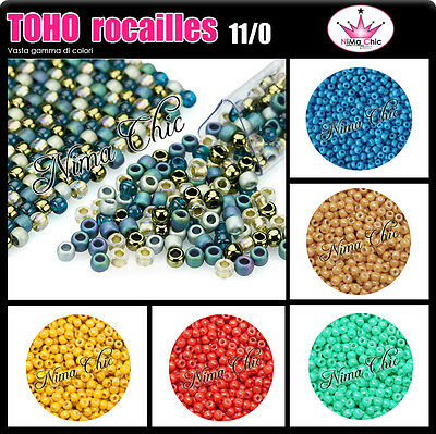 850pz TOHO ROCAILLES 11/0 microperle, perline conteria embroidery seed beads10gr