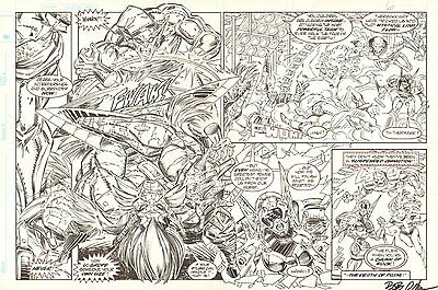 Hyperkind #? pgs. ? - Horizontal Issue Action - 1993-94 art by Paris Cullins