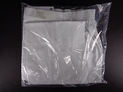 Chef Pants Elastic Waist White Size M 33 - 36 Kitchen Uniforms To You