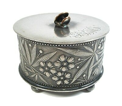 SIMPSON HALL MILLER & CO - Arts & Crafts Silver Plate Jewelry Box - US - 19th C