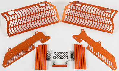 UNABIKER RADIATOR GUARD (ORANGE) Fits: KTM 250 SX-F,250 XCF-W,450 EXC-R,450 SX-F