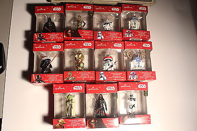 STAR WARS Hallmark Ornaments lot of 11NEW FORCE AWAKENS Figures Christmas Xmas