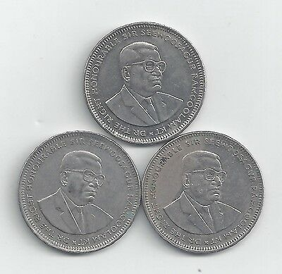 3 DIFFERENT 1 RUPEE COINS from MAURITIUS (2002, 2004 & 2010)