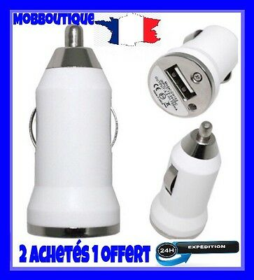 Chargeur Voiture Allume Cigare USB iphone 6/6S samsung,nokia,htc,sony.BLANC