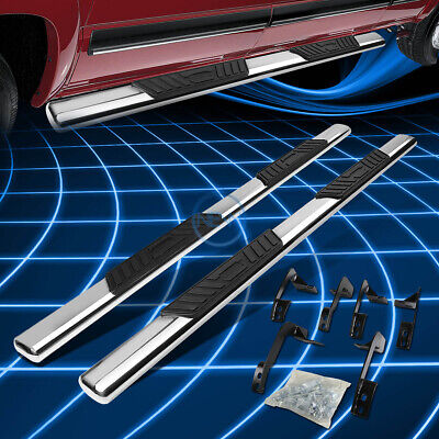 "5"" Chrome Oval Step Nerf Bar Running Board For 2009-2015 Dodge Ram 4DR Crew Cab"