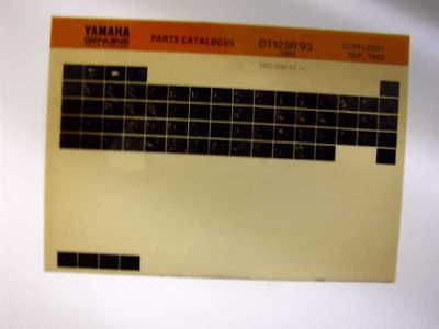 Yamaha Dt125R Dt 125 R 1993 Gen Parts Catalogue Microfiche