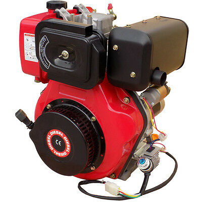 10HP Diesel Engine 4 Stroke Motor with Electric Start - LAUNTOP