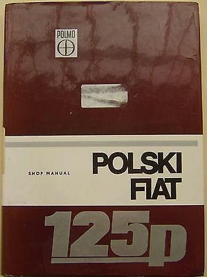 Polski Fiat 125p 1300 1500 original Shop Manual (Workshop) circa 1975? English