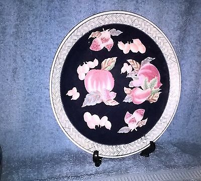 Large Decorative Plate - Hand Painted - Fruits - Collectible - Wbi - China - Vgc