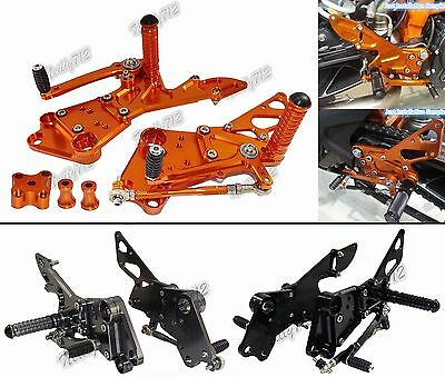 CNC Adjustable Rearsets Footrest Peg Rear Set For 2011-2017 KTM Duke 125 200 390