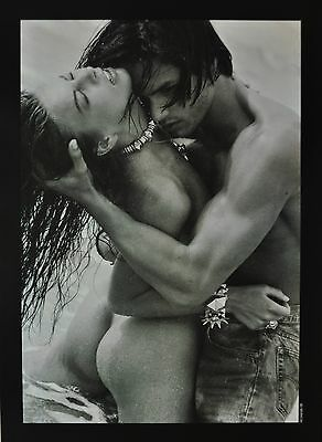 Conrad Godly Photo Print Poster 40x55cm Untitled Nude Couple B&W SW Water Sea