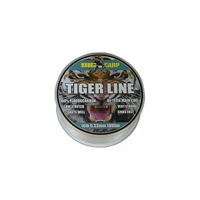 Big Carp Tiger Line Fluorocarbon Mainline 250m *All Breaking Strains*