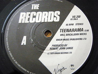 "The Records - Teenarama  7"" Vinyl"