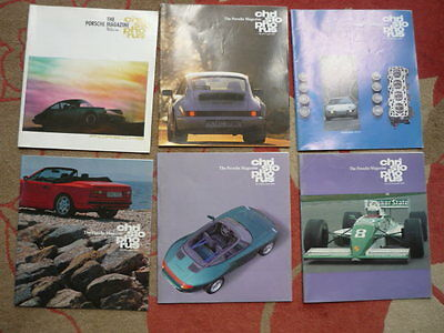 PORSCHE CHRISTOPHORUS HOUSE MAGAZINE 1989 - FULL SET, 6 ISSUES  jm