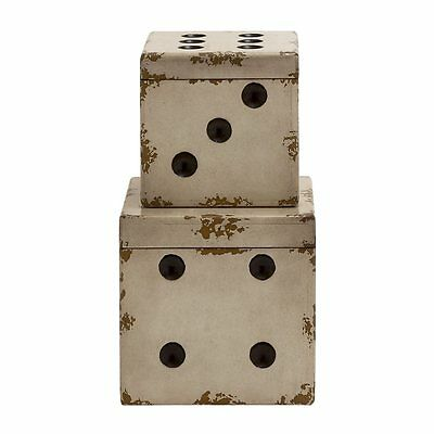 Woodland Imports 20329 Simply Angelic Wood Dice Boxes (set of 2)