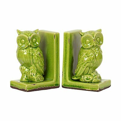 Urban Trends 11144 Stoneware Owl Bookend (set of 2)