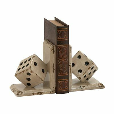 Woodland Imports 20322 Classy And Unique Wood Dice Bookends