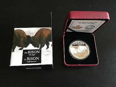 2014 $20 Bison - The Fight Silver Coin