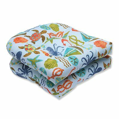 Pillow Perfect 569499 Seapoint Outdoor Wicker Seat Cushions (Set of 2)