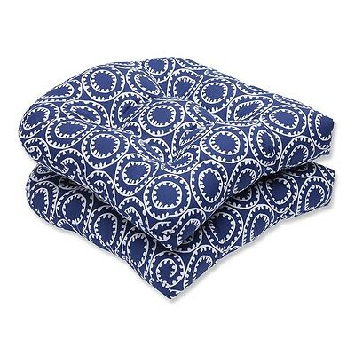 Pillow Perfect 568317 568 Ring a Bell Outdoor Wicker Seat Cushions (Set of 2)