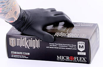 Midknight Nitrile Medical Gloves - Price Per Box - By the Box or Case