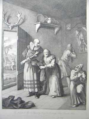 Frisör The Curate & Barber disguising themselves to convey Don Quixote Hogart