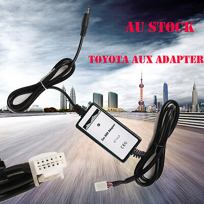 For Toyota Camry RAV4 Etc 3.5mm AUX Input Dock Adaptor MP3 Interface Adapter AU