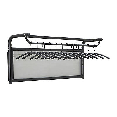 Safco 4604BL Impromptu® Coat Wall Rack with Hangers