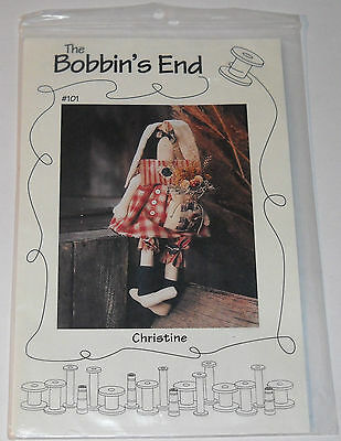 The Bobbin's End Doll Pattern #101 Christine designed by Christine Blaski 1995