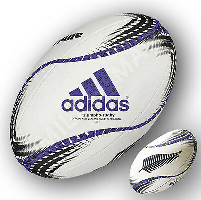 Adidas Size 5 New Zealand All Blacks Triumpho Rugby Union Official Replica Ball