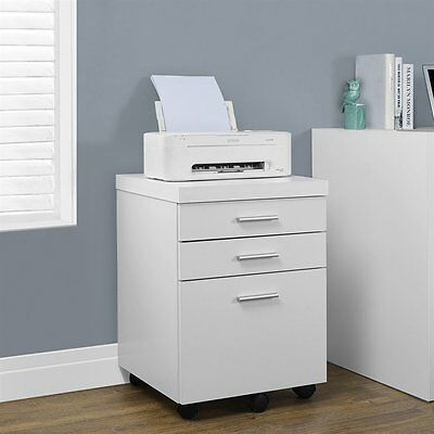 Monarch Specialties I 7048 3-Drawer Mobile File Cabinet