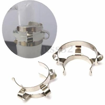 2pcs Stainless Steel Clip Keck Clamp for 24/29 24/40 Glass Ground Joint NEW