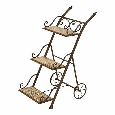 Woodland Imports 66553 Stair Step Ladder Plant Stand