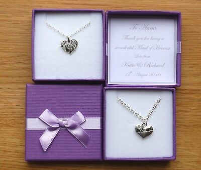 Bridesmaid gift - thank you favour.. Personalised. Maid of Honour & Flower Girl
