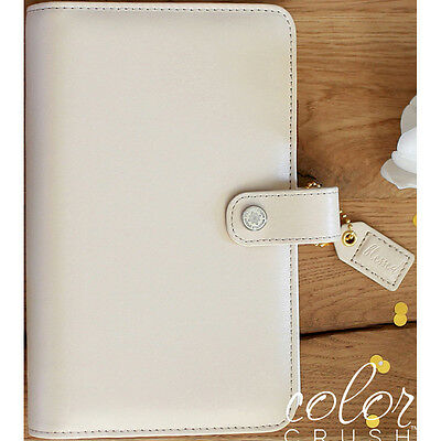 Color Crush A2 Faux Leather Personal Planner 6-Ring Binder-Natural