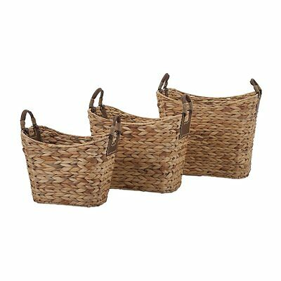 IMAX Worldwide 85859-3 Niko Natural Weave Baskets (Set of 3)