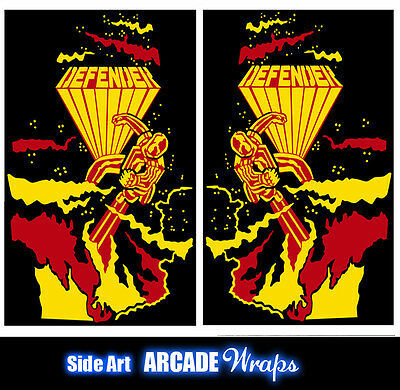 Defender Arcade Side Art Panel Stickers Graphic / Laminated All Sizes Available