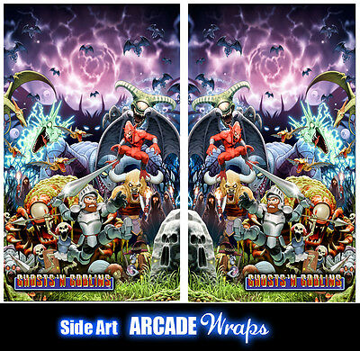 Ghost n Goblins Arcade Side Artwork Panel Stickers Graphics / Laminated