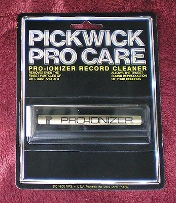 Pickwick Pro Care Pro-Ionizer Record Cleaner  (aka Disc Preener) - New!