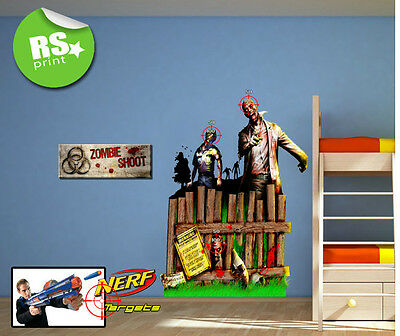 Zombie Target Sticker Decal Ideal For Nerf Guns Ultimate Shoot Em Up.