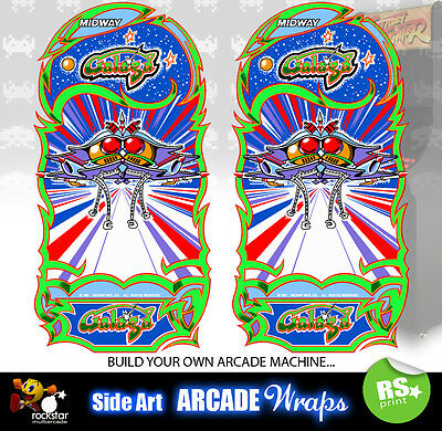Galaga Arcade Side Artwork Panel Stickers Graphics / Laminated All Sizes